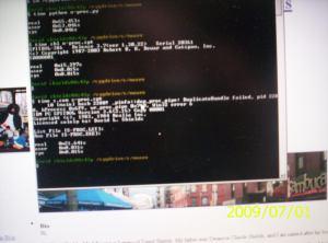 Screenshot showing comparative times